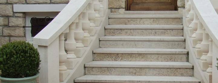 Solid stone steps