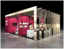 Model of Pierre de Bourgogne stand at Marmomacc 2009